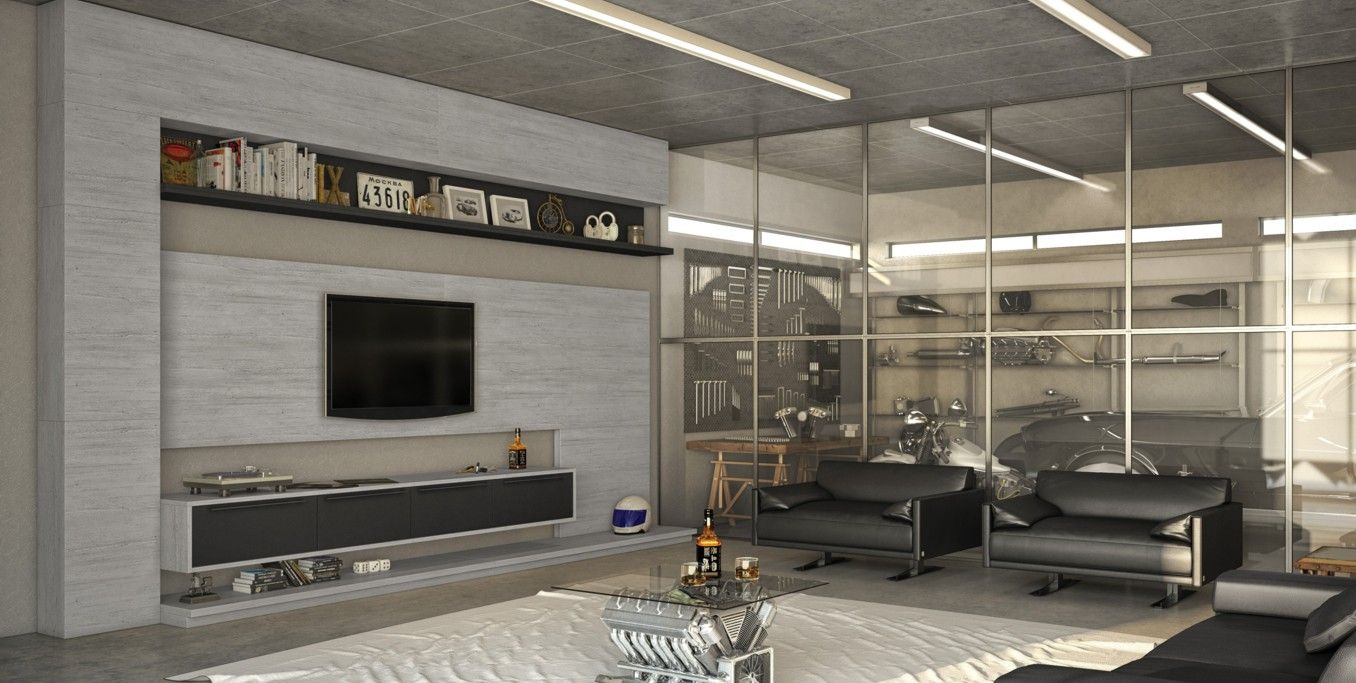 Home theater planejado branco brazil