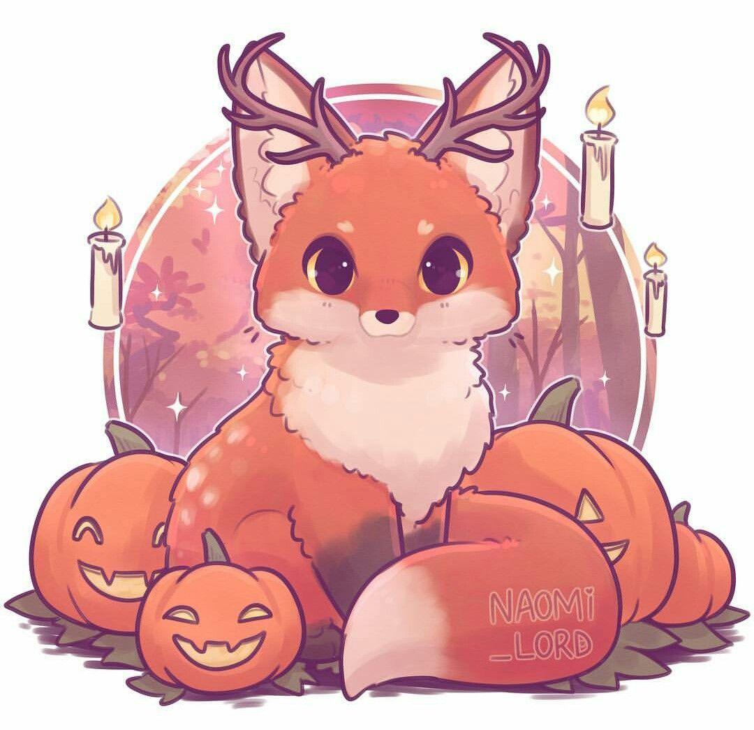 Pin by Grex Larson on sesonal Cute fox drawing, Cute