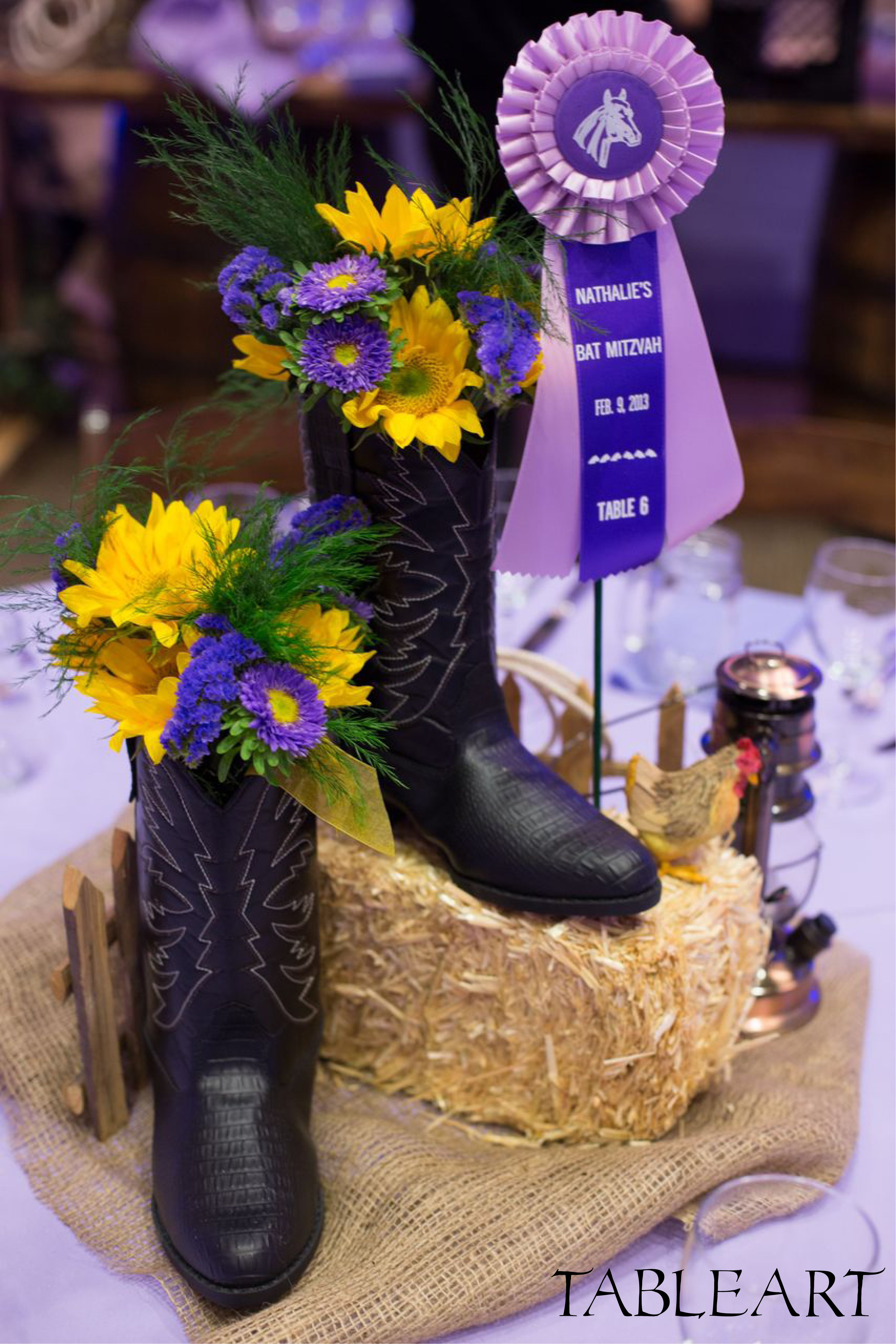 Country western centerpiece by tableart decoration