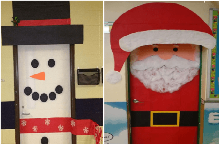 Etiqueta Idea para decorar puerta en navidad