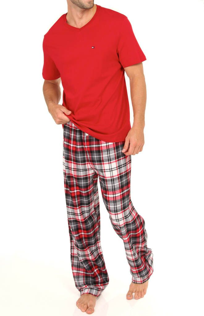 4e165b5e5fb Tommy Hilfiger Sleep Top and Flannel Pant Gift Set 09T1058 - Tommy Hilfiger  Sleepwear