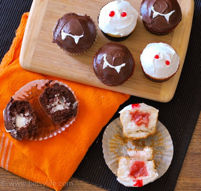 halloween filled cupcakes