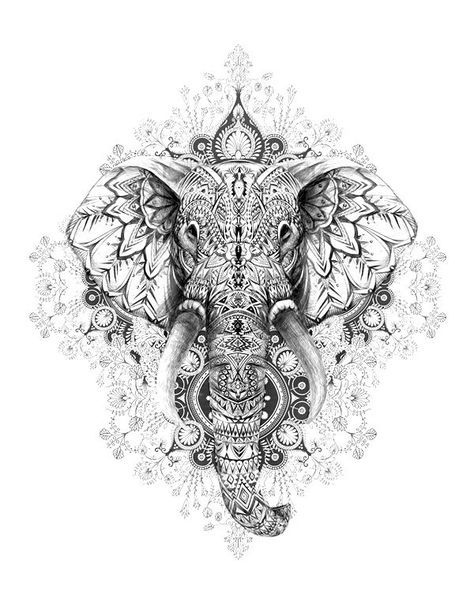 bildergebnis für mandala  tattoo elefanten mandala