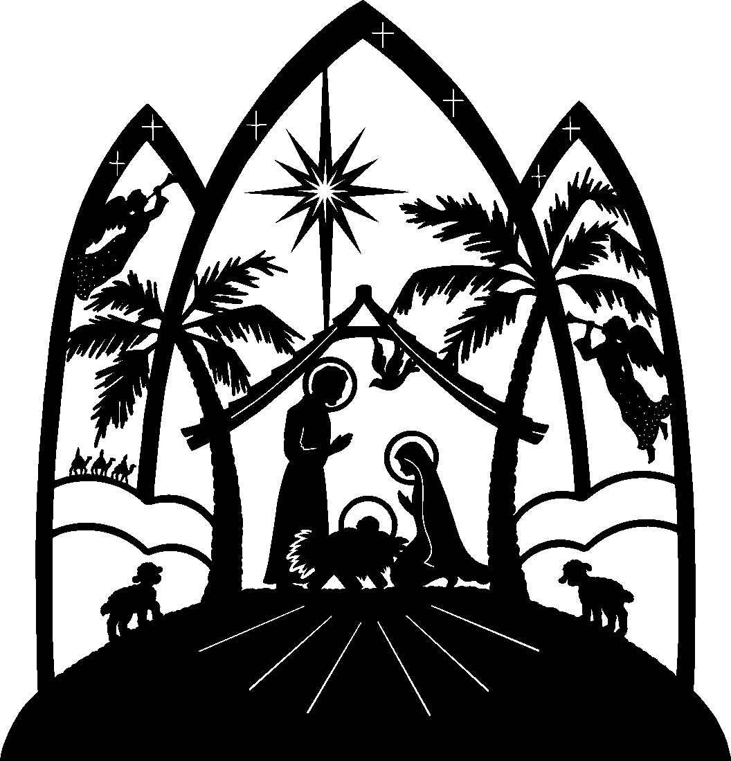 christmas religious clip art nativity scene clip art free [ 1056 x 1099 Pixel ]