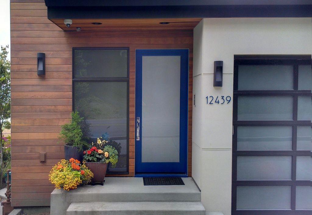 French Glass Garage Doors contemporary front door with ipe siding, bp glass garage door