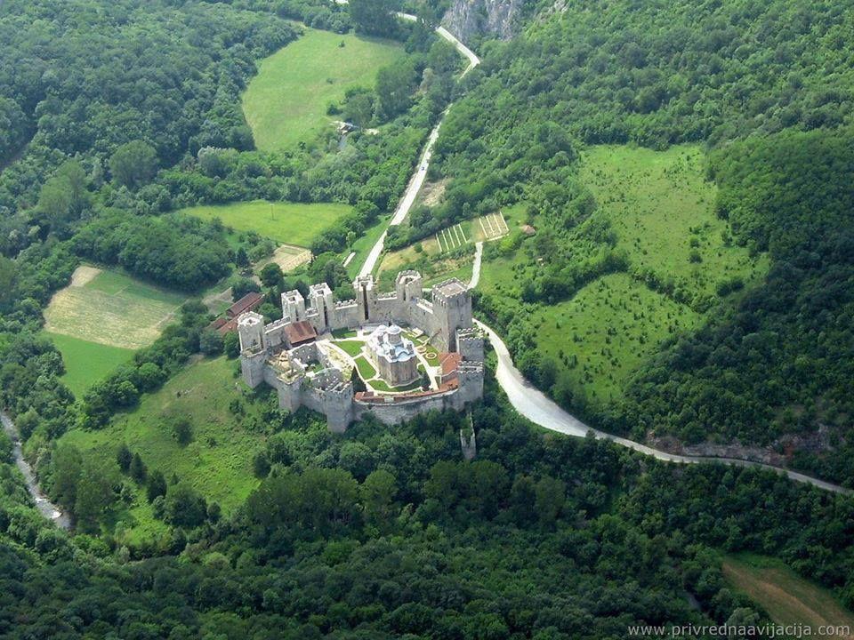 Serbian orthodox monastery of Manasija built in 1407. - Serbia