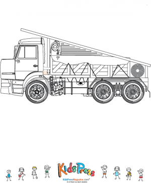 Fully Loaded Flat Bed Cargo Truck Coloring Page Kidspressmagazine Com Truck Coloring Pages Coloring Pages Cool Coloring Pages
