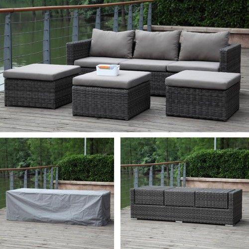 zebra jack lounge set 5-teilig, inkl. kissen und schutzhülle, Gartenarbeit ideen
