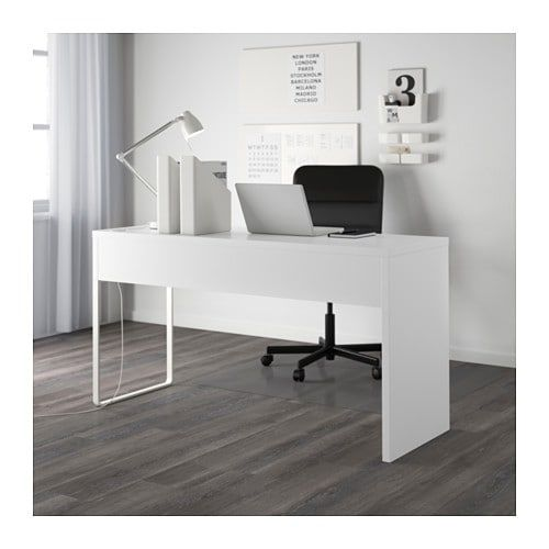 Micke Desk Ikea A Long Table Top Makes It Easy To Create Worke For Two