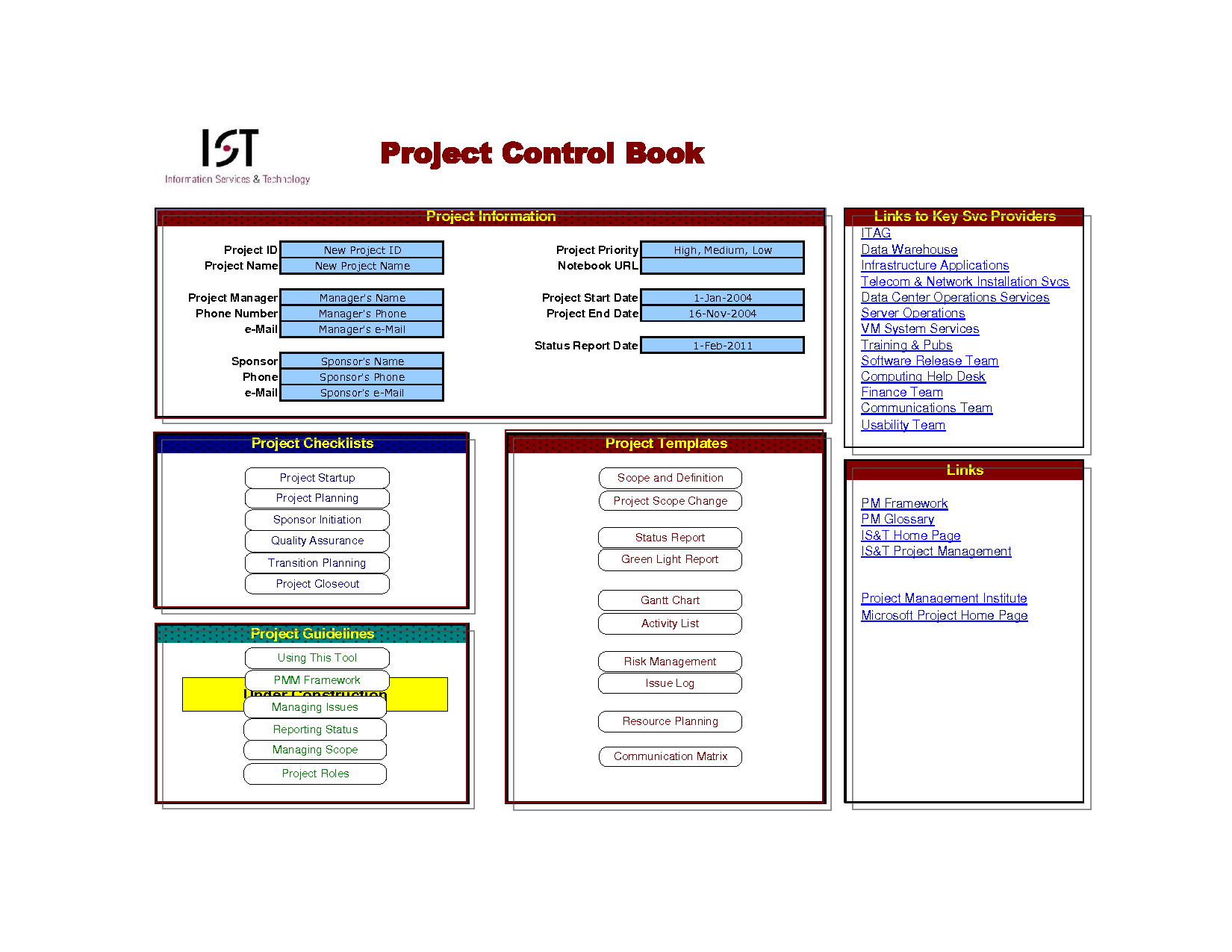 100+ [ Excel Project List Template ] | excel project manager the ...