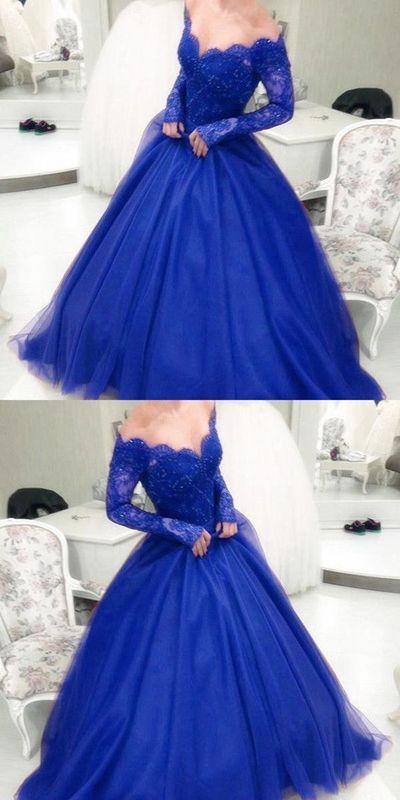 a456d513df Royal blue prom dress