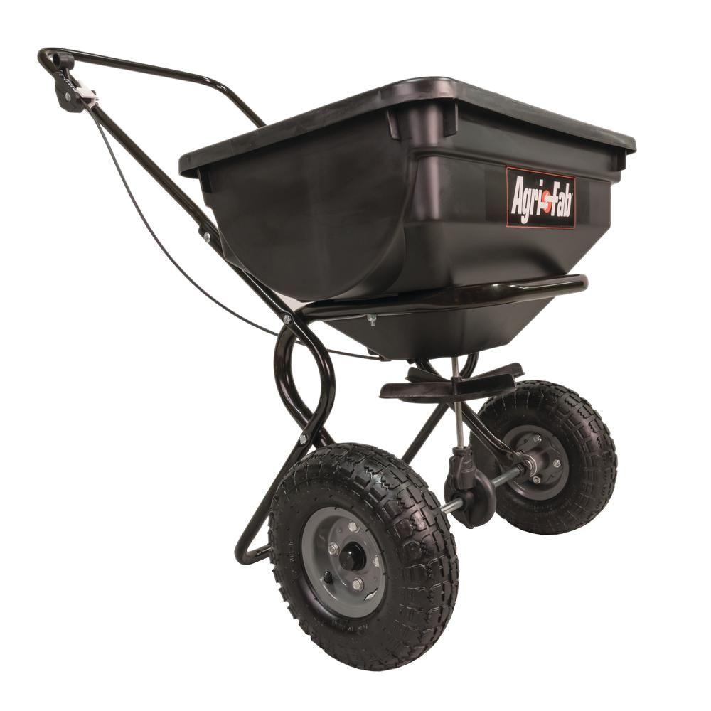 Agri Fab 85 Lb Push Broadcast Spreader Lawn Fertilizer Spreader