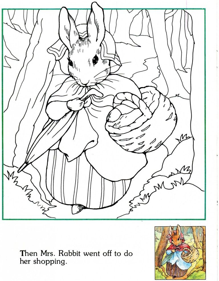 Peter Rabbit: Then Mrs. Rabbit went off to do her shopping ...