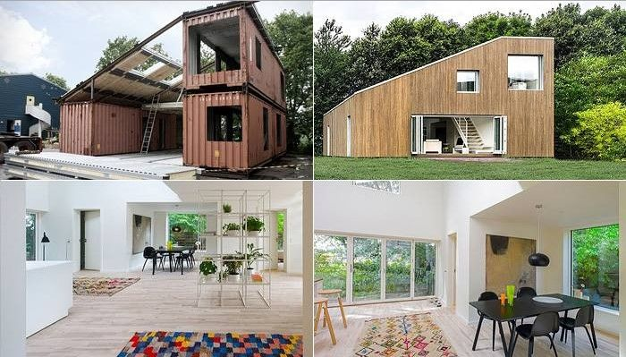3 Containers Wfh House Slant Roof In 2019 Container