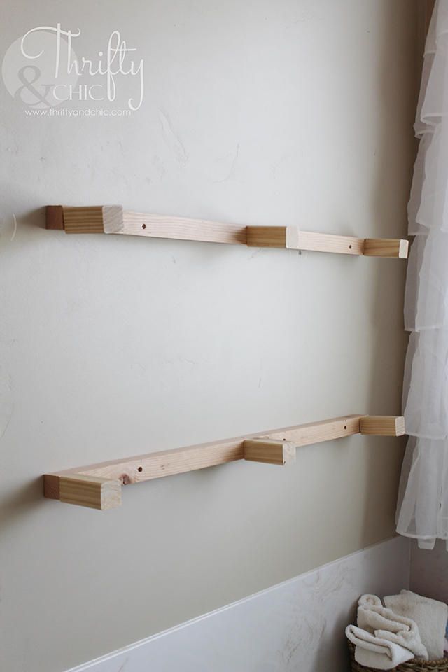 Melannco Floating Shelves Diy Floating Shelves And Bathroom Update  Shelves Room And House