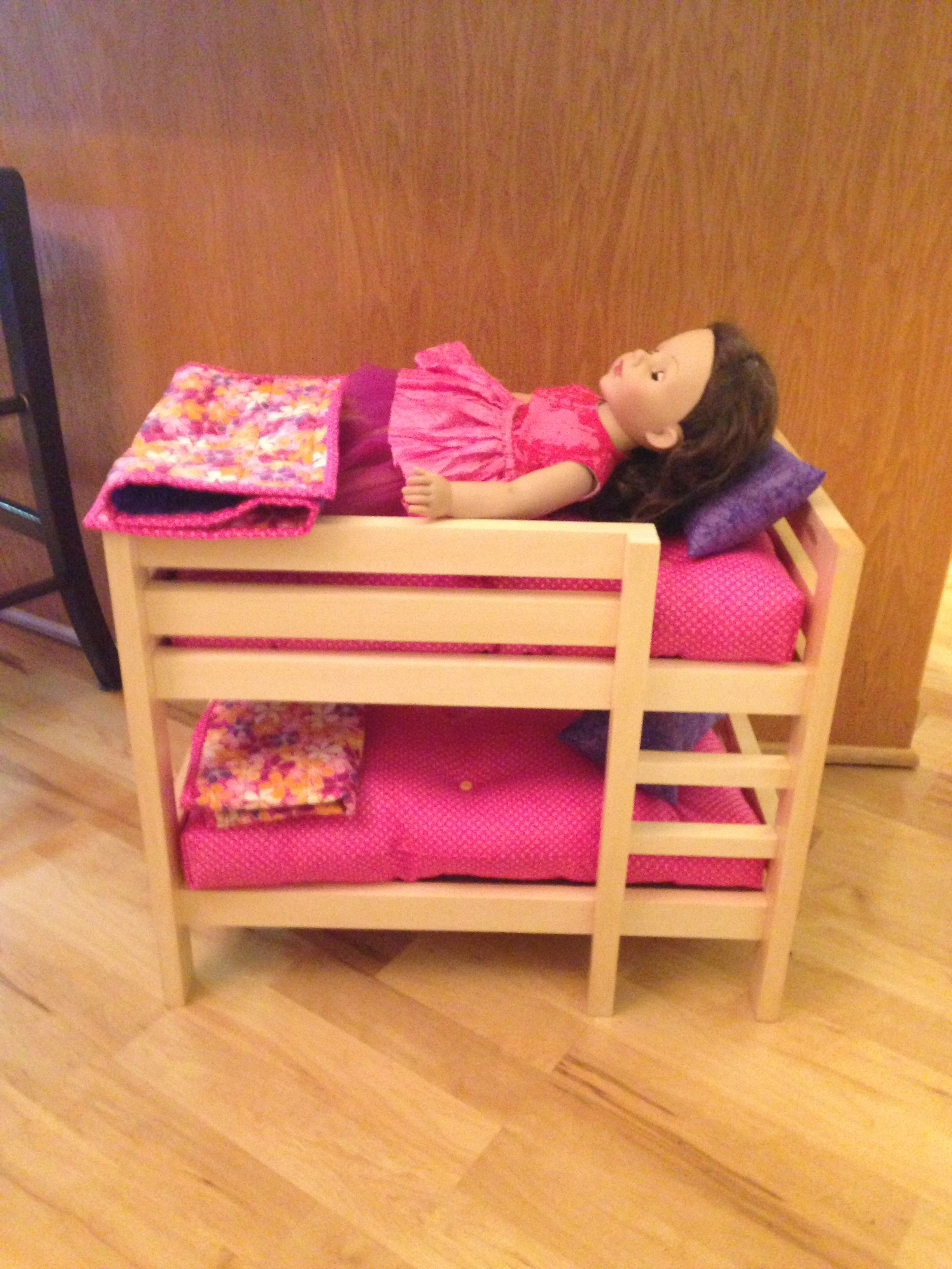 Dad's version of Ana white bunk bed pattern. I made the