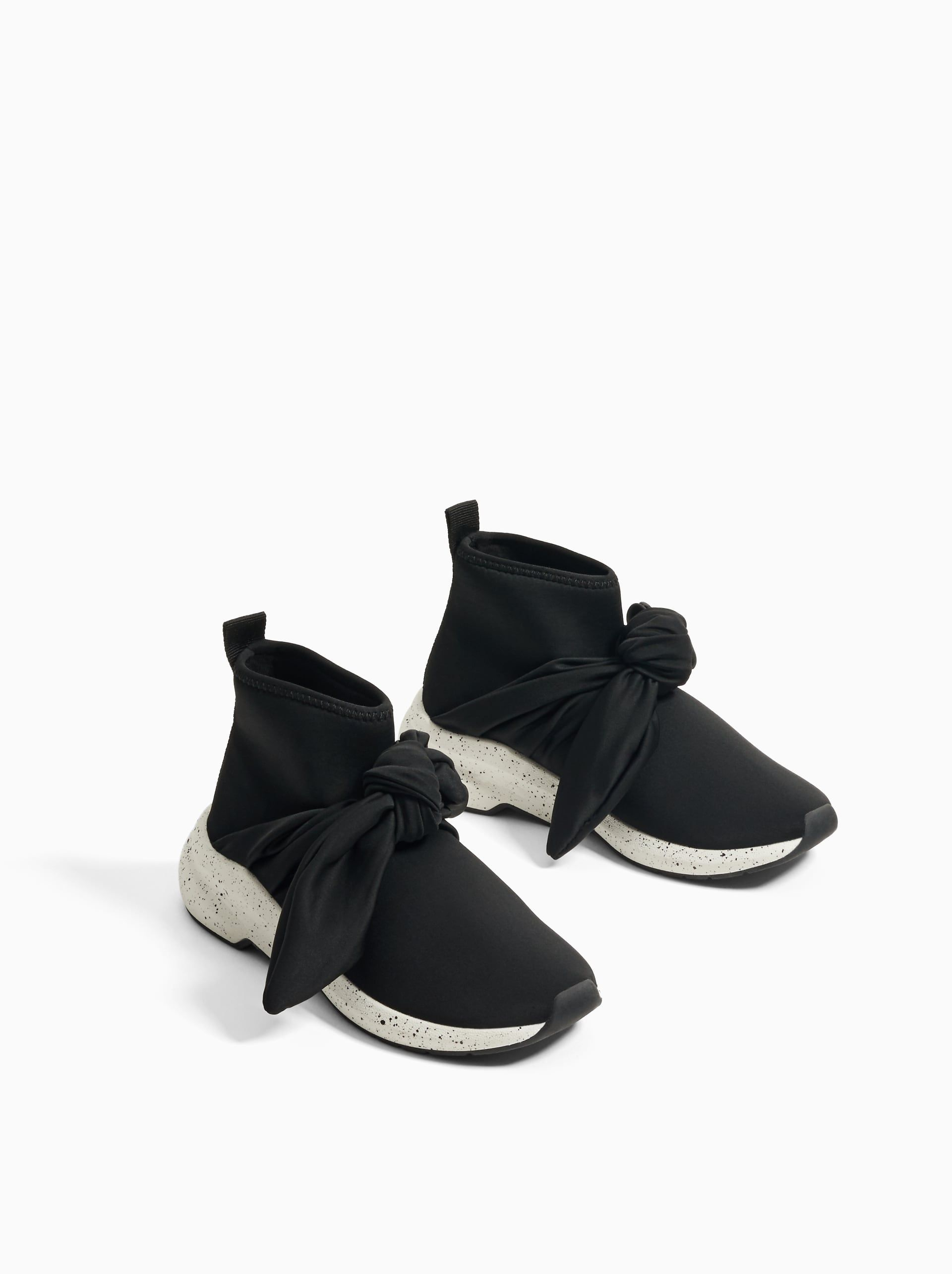 Image 2 of HIGH-TOP SOCK-STYLE SNEAKERS