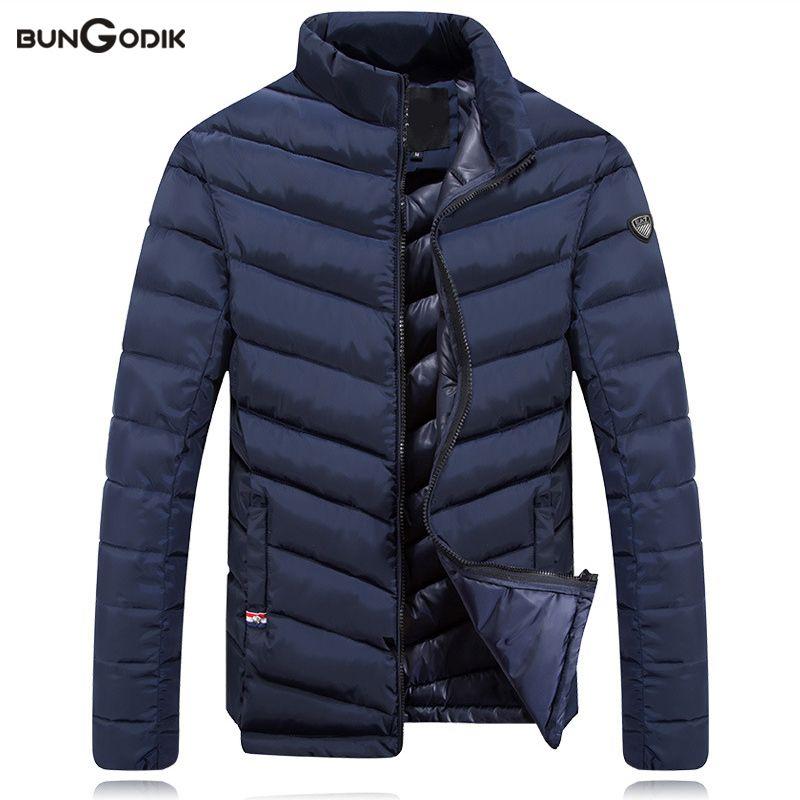 omniscient Mens Hoodied Down Fashion Warm Coat Winter Casual Hood Zip Up Coats Coat