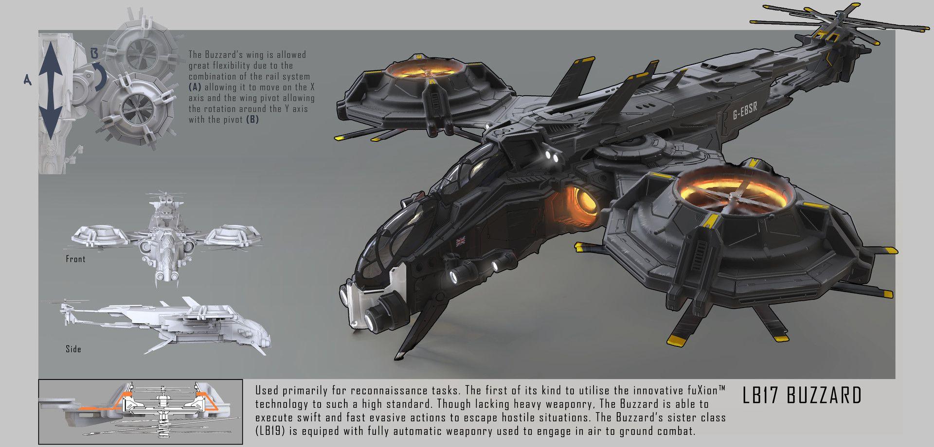 ArtStation - LB17 Buzzard, Connor Sheehan | Concept Art ...