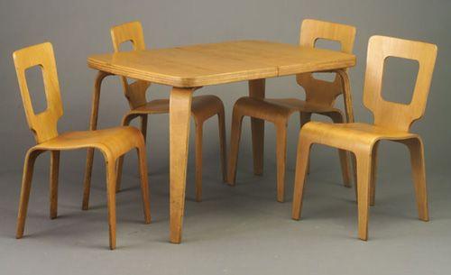 Superior THADEN JORDAN Bent Ash Dining Set With Extension (Thaden Jordan Furniture  Corporation, Roanoke, VA, By Herbert Von Thaden)