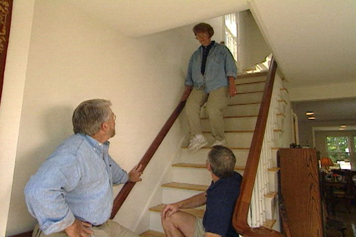 Best Install A Matching Wood Handrail On The Wall Side Of Your 400 x 300