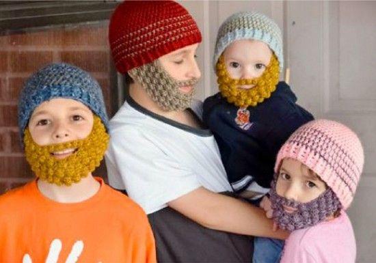 Bobble Beard Crochet Hat Pattern Easy Video Instructions Beanie
