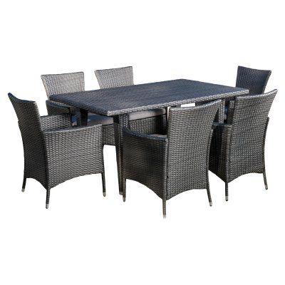 Attractive Outdoor Best Selling Home Decor Furniture Isabel Wicker 7 Piece Rectangular  Patio Dining Set With Cushion   296686 | Patio Dining And Products