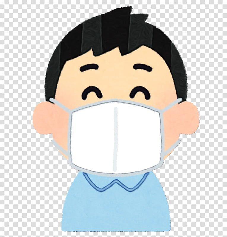 Emoji Face Watercolor Paint Wet Ink Surgical Mask Surgery Cartoons Png Emoji Faces Kids Wear