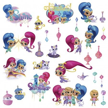 shimmer and shine VINYL WALL STICKER WALL DECAL