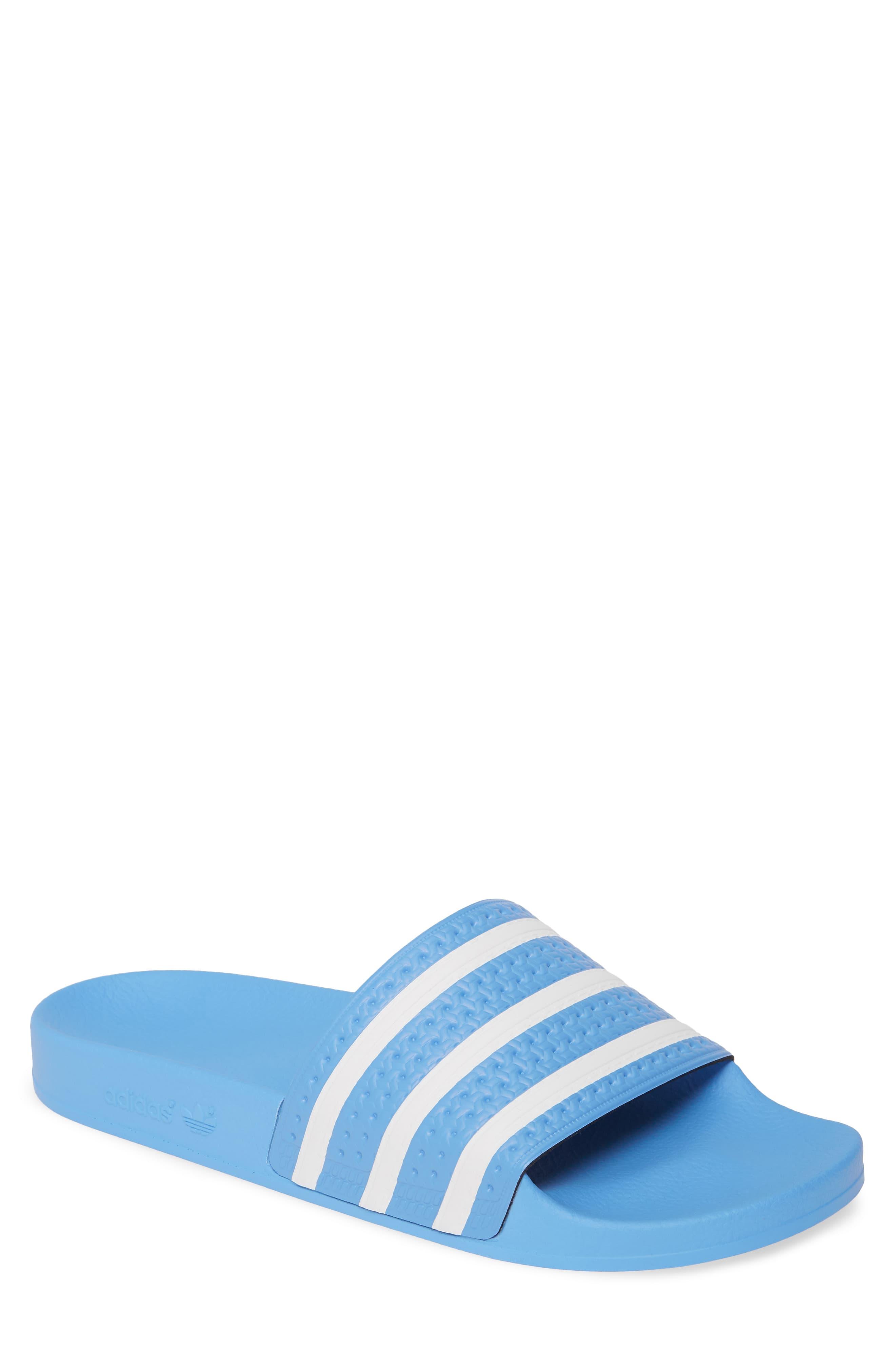 adidas Adilette Stripe Sport Slide (Men | Adidas men, Adidas