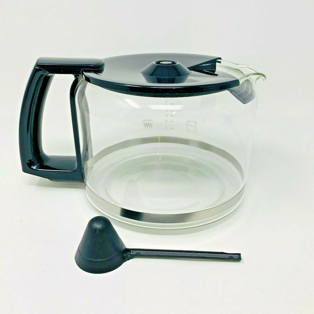 New Krups Schott Replacement Caraffe Coffee Pot 10 Cup Glass Black With Scoop Krups Coffee Pot Krups 4 Cup Coffee Maker