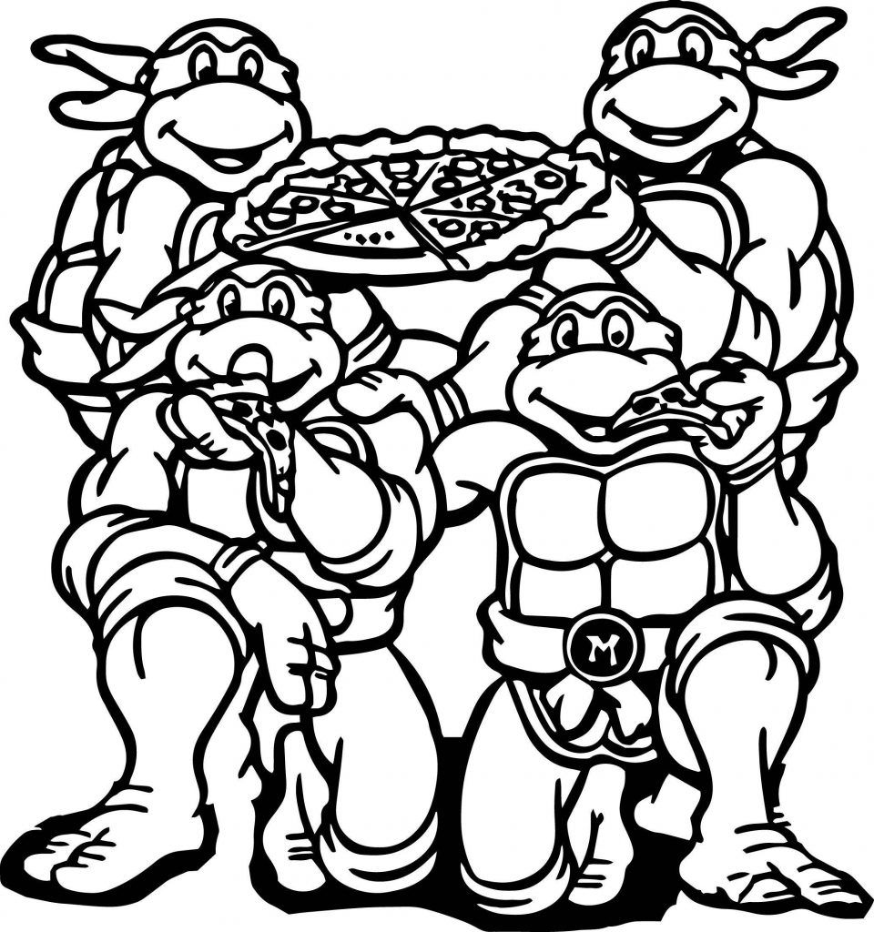 Full Page Ninja Turtles Coloring