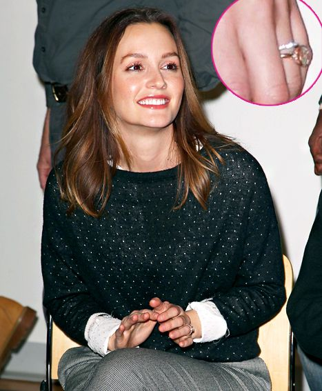Pic Leighton Meester Shows Off Wedding Ring After Marrying Adam Brody Leighton Meester Celebrity Style Leighton Meester Wedding