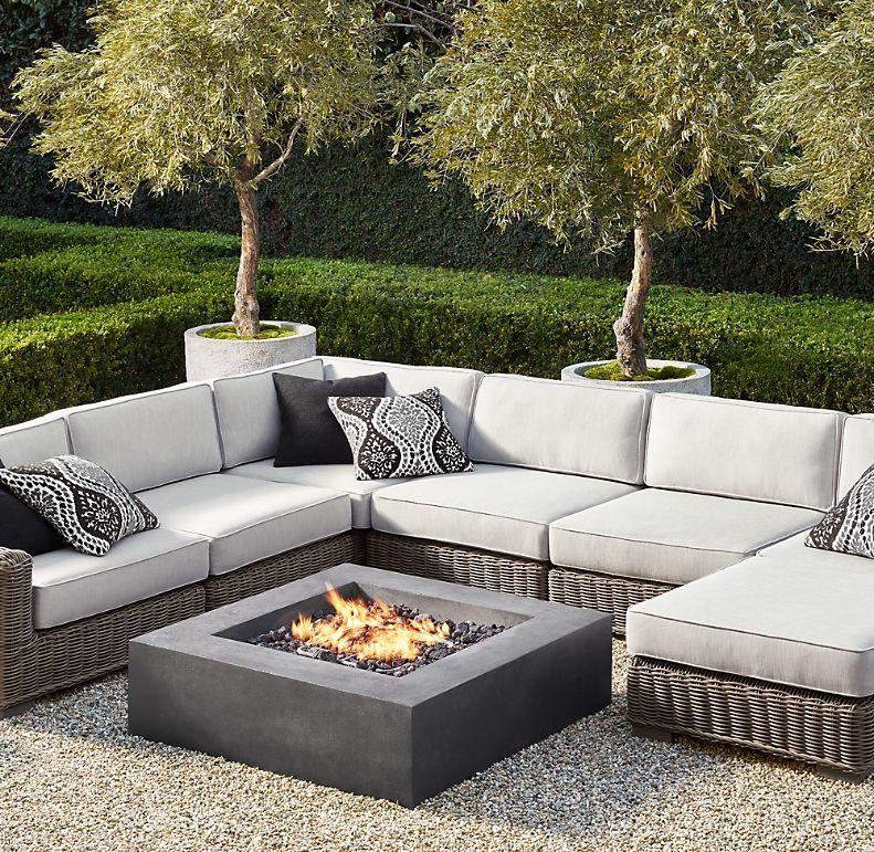 Provence Luxe Modular U Sofa Sectional Chair Outdoor Patio Decor Backyard Furniture Backyard Design