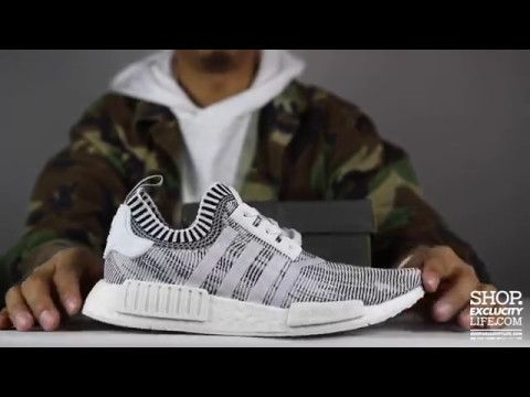 86b6b4e5585bda Shoes · Zapatos · Adidas NMD R1 PK White Black Unboxing Video at Exclucity