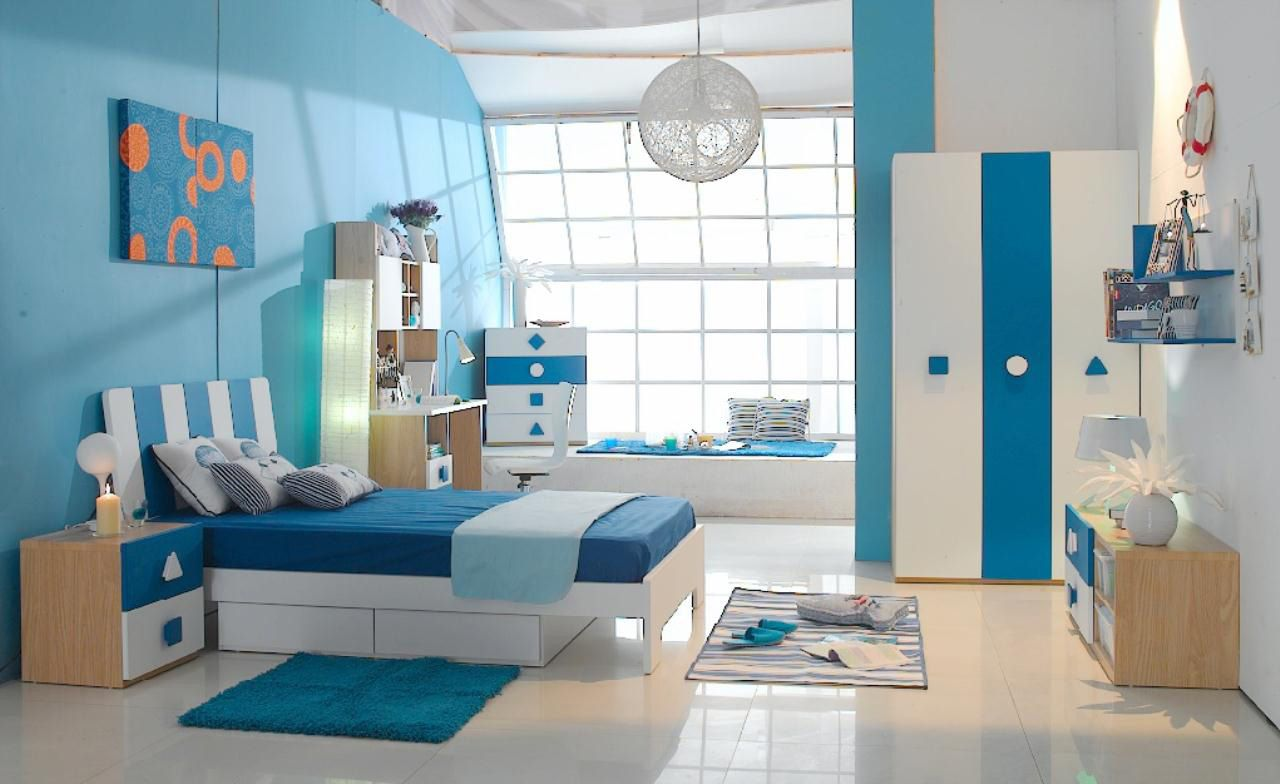 Bedroom designs for couples in blue - Kids Bedroom Design Ideas