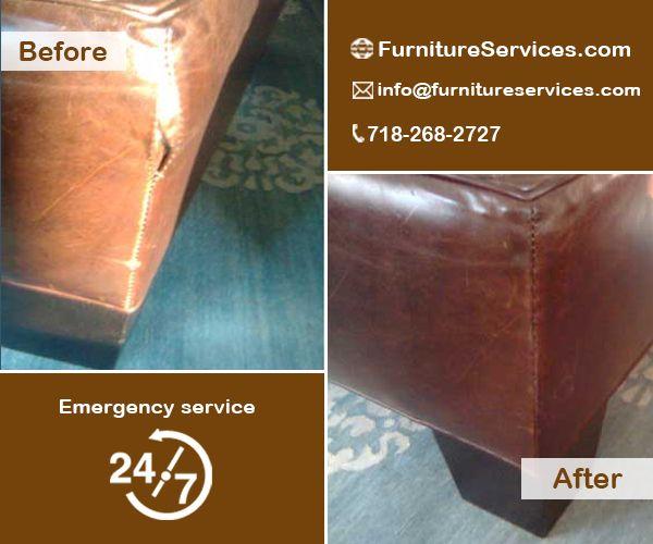 Ripped Leather Seam Repair.