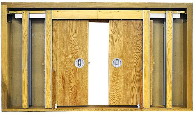 Beau Johnson Hardware® 1500 Series Pocket Door Hardware Pocket Door Frame, Pocket  Door Handles,