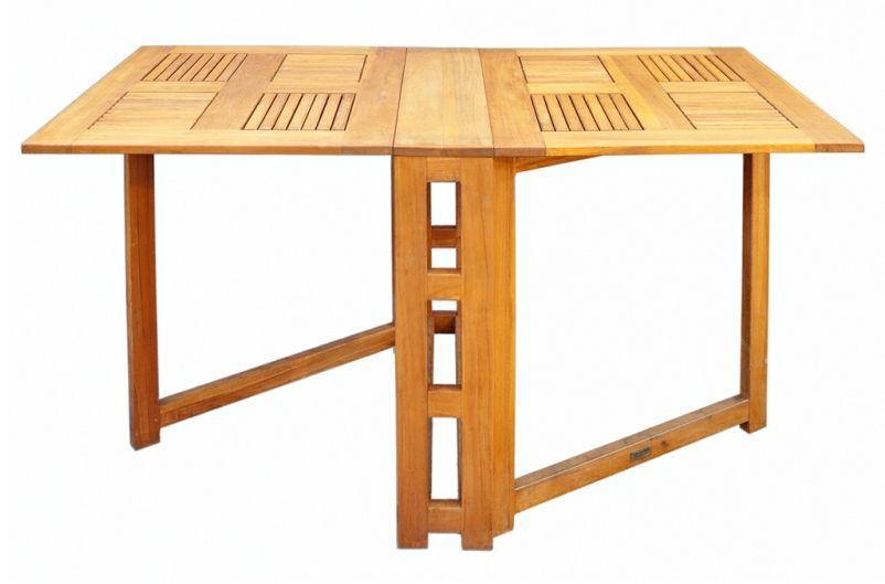 Mesa plegable extra ble modelo nuevo madera teca balcon for Mesa plegable para balcon