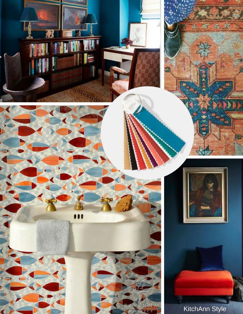 Home interior colors orange pantone view home  interiors  color palettes  home ideas