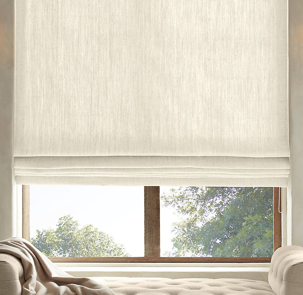 Linen Window Treatments - Find this pin and more on off the shelf window coverings