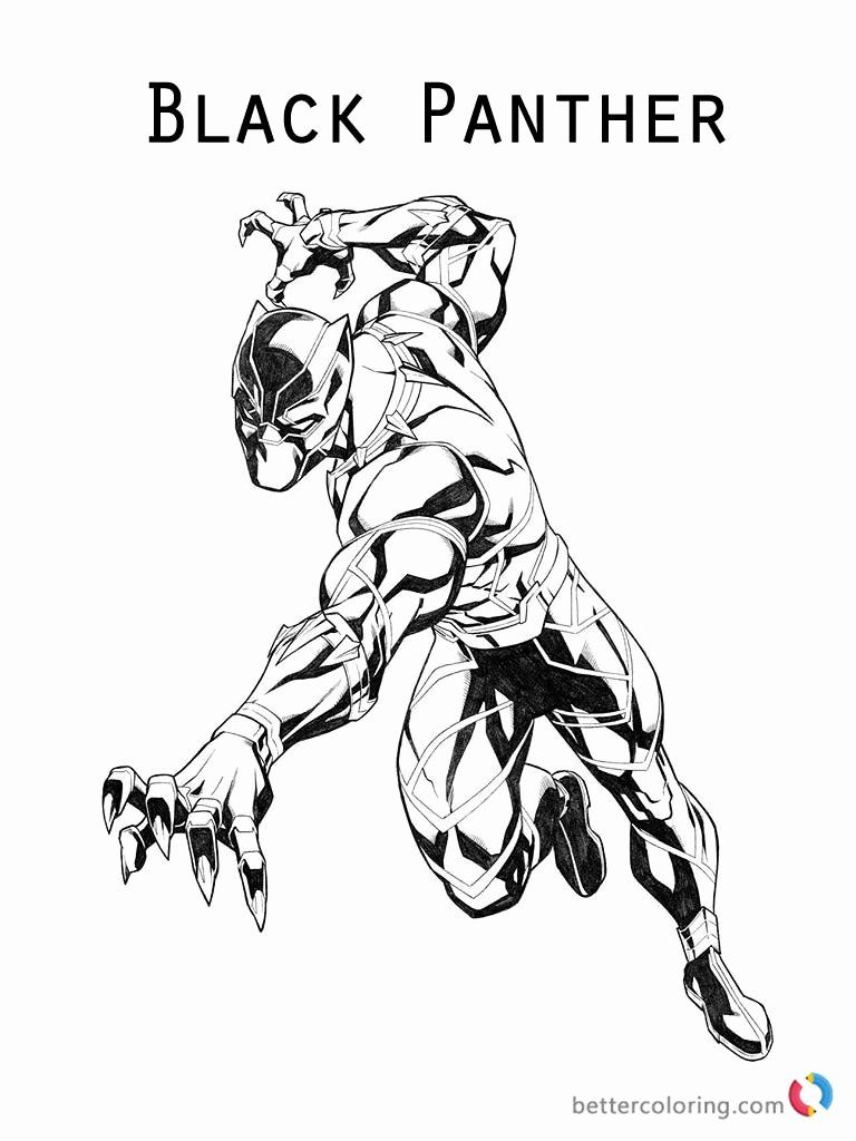 Black Panther Coloring Page Luxury Black Panther Coloring Pages Marvel Superhero Free In 2020 Black Panther Marvel Black Panther Drawing Marvel Coloring