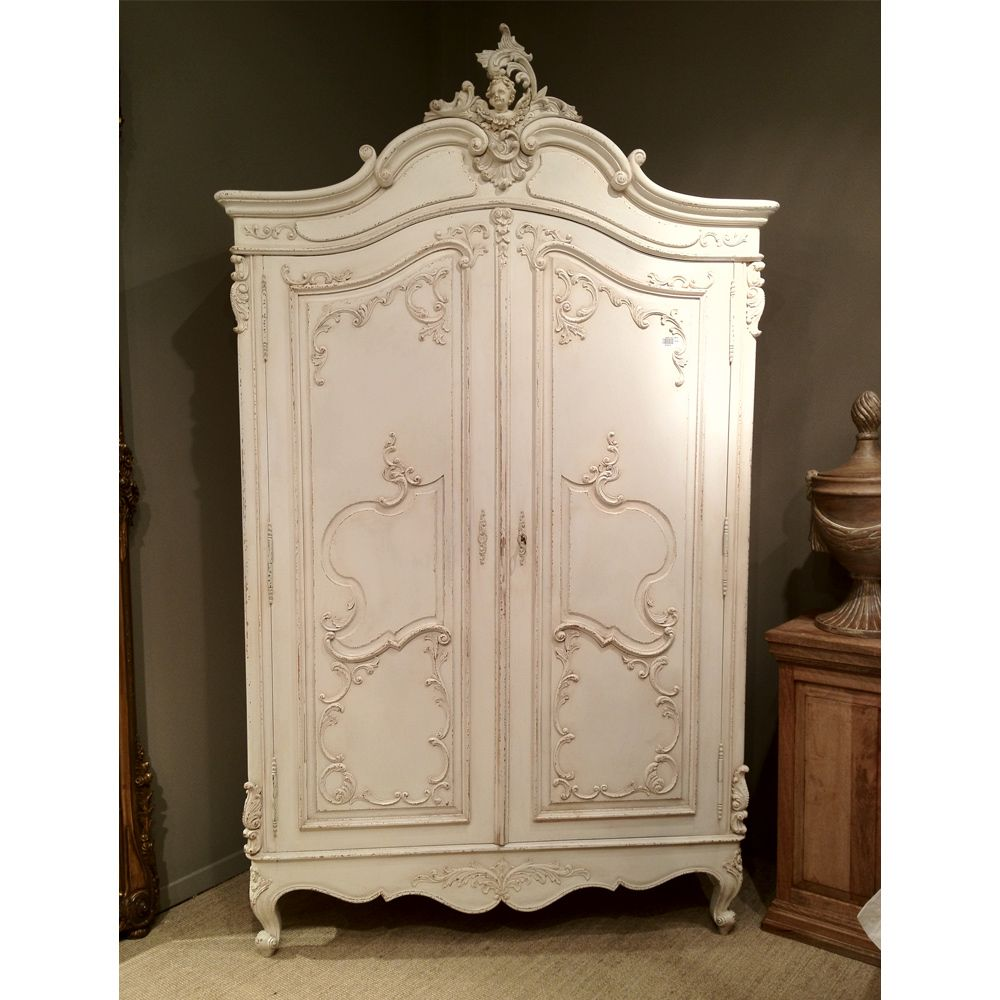 delphine distressed shabby chic armoire armoires. Black Bedroom Furniture Sets. Home Design Ideas