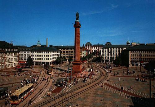 Darmstadt früher   Luisenplatz (frühe 80er Jahre)
