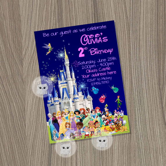 Disney Party Package Castle Kit Characters Birthday