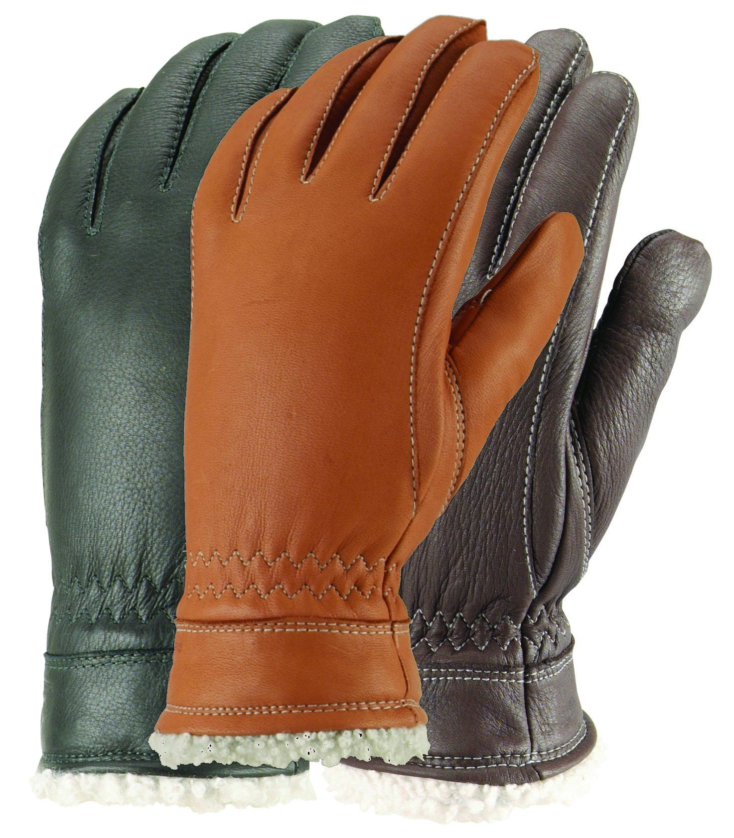 Hestra mens gloves - Women S Casual Deerskin Gloves With Lamb Shearling Cuff By Hestra Free Usa Shipping At Leather