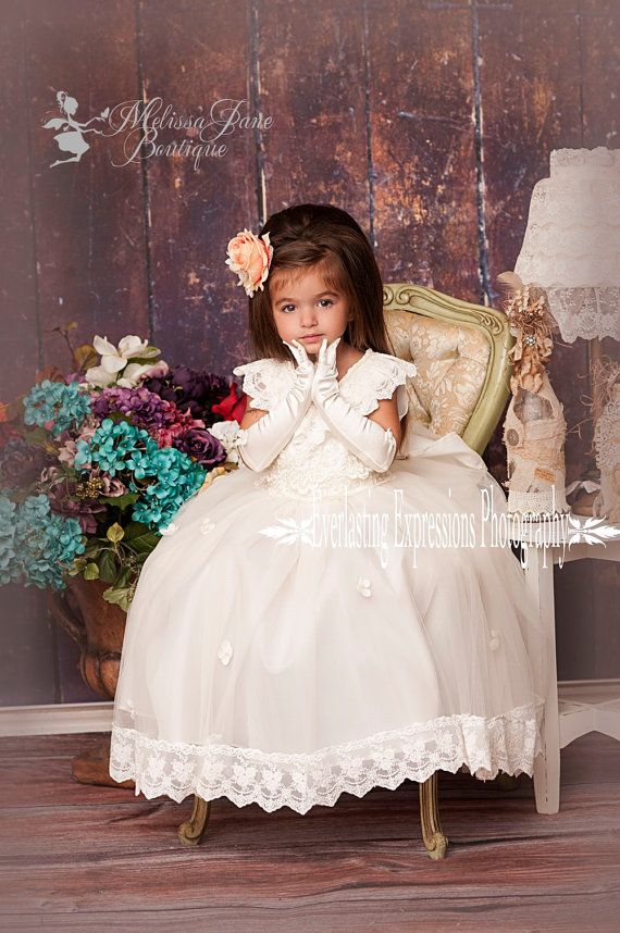 Exquisite Angel Flower Girl Dress on Etsy, $168.00