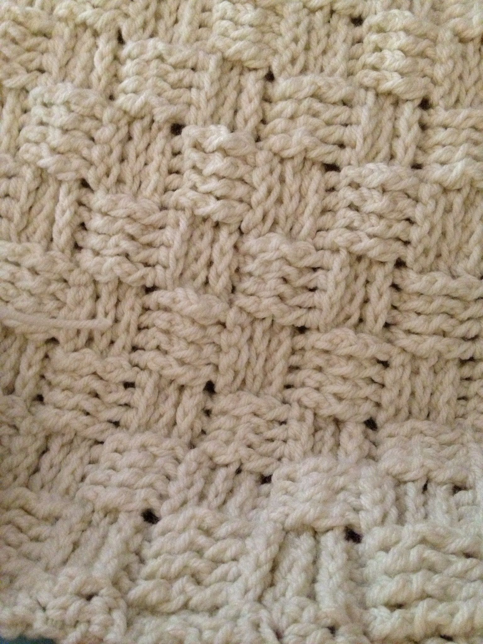 Newest baby blanket in basket weave stitch.   Crochet Stuff ...