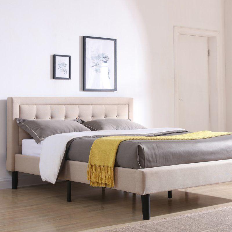 Pinheiro Tufted Upholstered Platform Bed Upholstered Platform