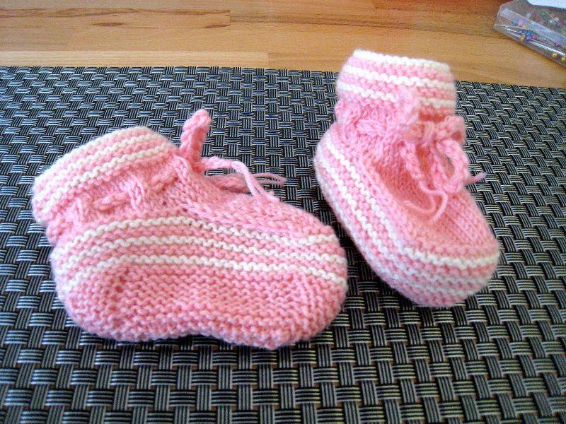 Gestrickte Babyschuhe - ohne Nadelspiel - Inkl. Anleitung/Tutorial ...